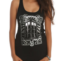 Doctor Who TARDIS Silver Foil Girls Tank Top
