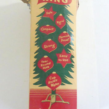 Vintage Tree King Products  Aluminum Christmas Tree Holder Small Christmas Tree Stand Artificial Tree Stand  Vintage Christmas Decor