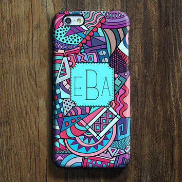 African Art Monogram iPhone 6s Case iPhone 6 plus Case Custom Initials iPhone 5 Case iPhone 5C Case iPhone 4S Case Native Galaxy S6 Case 104