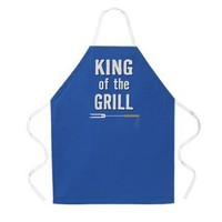 Attitude Apron King of the Grill Apron, Dark Blue, One Size Fits Most