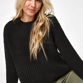 ESBZF7 Sweaters for Women, Off the Shoulder Sweaters, Cozy Sweaters   PacSun