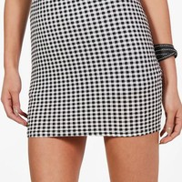 Aurora Gingham Print Basic Mini Skirt | Boohoo