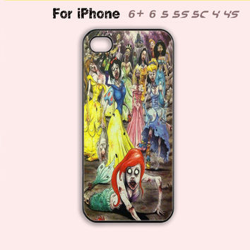 Disney Zombie Princess Phone Case For iPhone 6 Plus For iPhone 6 For iPhone 5/5S For iPhone 4/4S For iPhone 5C-5 Colors Available