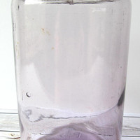 VINTAGE - JVC Easy Vacuum Glass Quart Canning Jar - Light Amethyst Purple - Collectibles