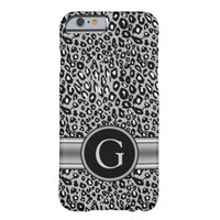 Trendy Silver Leopard Pattern and Monogram