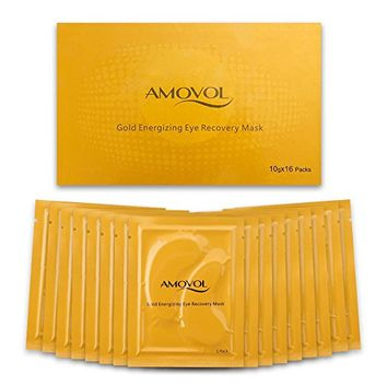 Collagen Eye Mask 24K Gold Reduce Dark Circles and Puffiness Eye Treatment Pads Eye Patches With...
