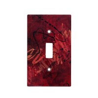 Red Passion Light Switch Cover