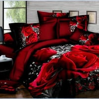 U&H Hot sale!4pcs 3d bed set bedding sets High quality.pillowcase reactive printed bedclothes queen size bed linen