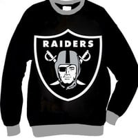 Oakland Raiders Shield Organic French Terry Two Tone Sweatshirt
