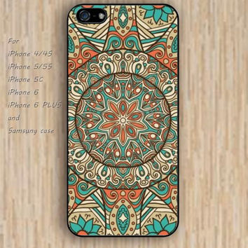 iPhone 5s 6 case Mandara flowers dream catcher colorful phone case iphone case,ipod case,samsung galaxy case available plastic rubber case waterproof B594