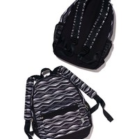 Victoria's Secret Pink Campus Backpack New Style 2014 (Black/White Aztec)
