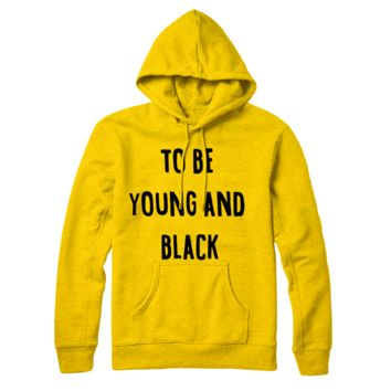 Yellow To Be Young & Black Hoodie
