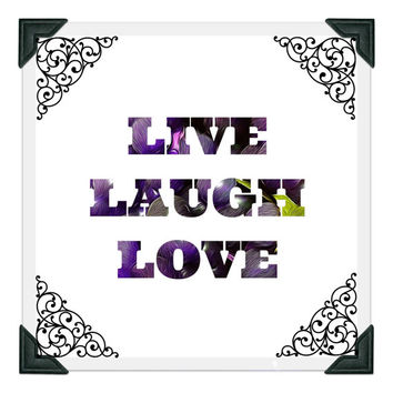 Live Laugh Love Printable, Instant Download, Inspirational Quote, Motivational, Wall Poster, Home Decor, Quote Print, Typography, Digital