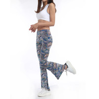 2016 Hot sale Sexy Ladies Flare pant Wide leg Pant Bell bottom legging Paisley print Fashion Style1013 American Original Order