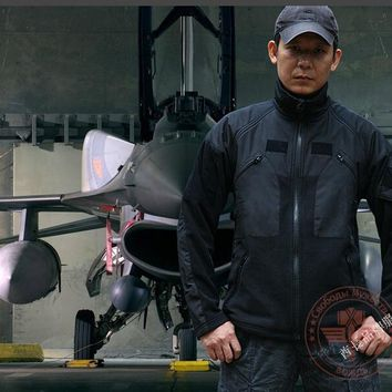 Military Man Fleece Tactical Jacket Outdoor Polartec Thermal Breathable Sport Coat Outerwear Army Clothes