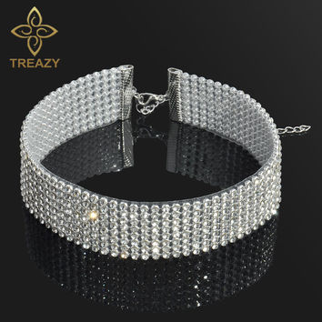 Sparkling Full Crystal Rhinestone Choker Necklace