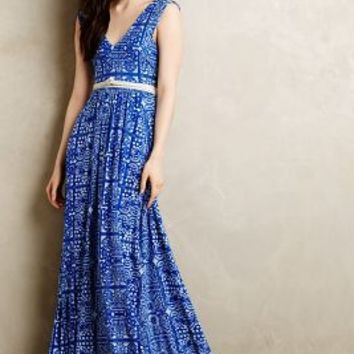 Trapunto Maxi Dress by Plenty by Tracy Reese Blue Motif