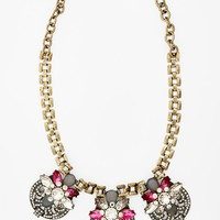 Women's Sole Society Crystal Stone Statement Necklace