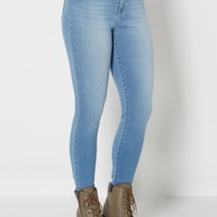 Light Blue High Waist Brushed Skinny Jean | Skinny Jeans | rue21
