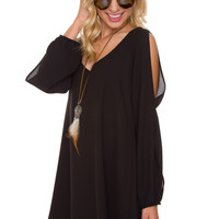 Alanna Shift Dress - Black