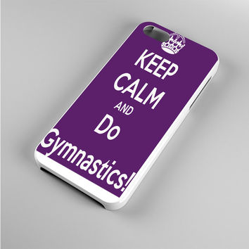 Keep calm and do Gymnastics Purple Iphone 5s Case