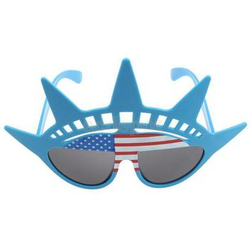 DCCKH6B US Flag Glasses Cocktail Hawaiian Novelty Adult Costume Hens Stag Party Accessory Fancy Dress Shade Shutte Sun Glasses