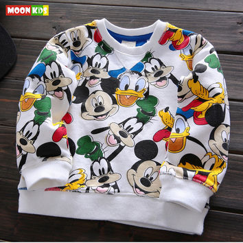 Free shipping 2017 spring autumn baby boy clothes pullover cotton full sleeve t-shirt children's clothing boys outerwear