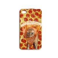 Pizza Cat Cute Cover Funny Phone Case iPhone Food Fun iPod Pet Fun Cool Boy Girl