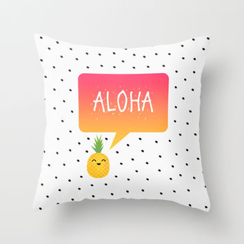 Aloha Throw Pillow by Elisabeth Fredriksson
