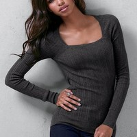 Thermal Square-neck Sweater
