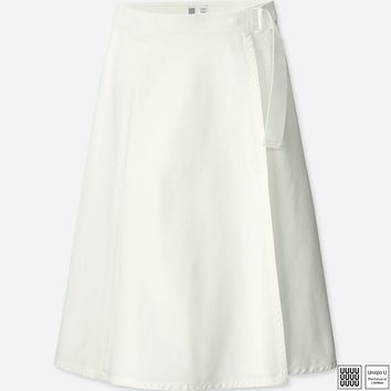 WOMEN Uniqlo U Belted Wrap Skirt