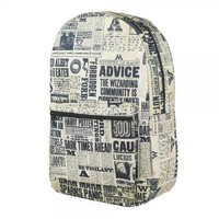 Harry Potter Newspaper Print Sublimated Backpack | HarryPotterShop.com