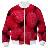 Raspberries Bomber Jacket created by ErikaKaisersot | Print All Over Me