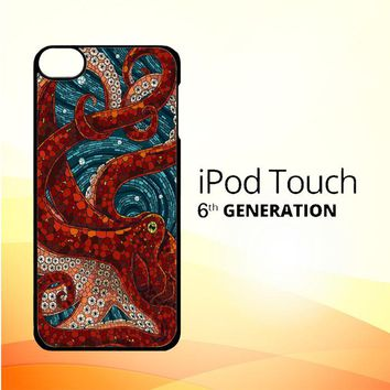 Kraken Octopus Stained Glass L1586 iPod Touch 6 Case