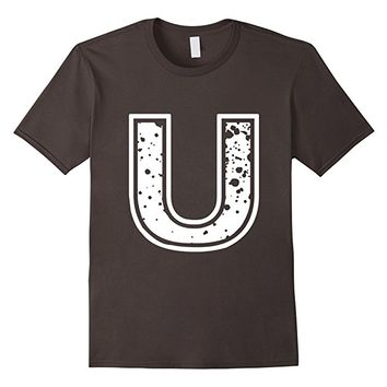 "Big ""U"" Alphabet Vintage Distressed T-Shirt"