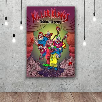 Art Print Movie Poster Killer Klowns From Outer Space Home Decor Wall Art Print Unframed 12x18 24x36inch