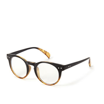 FOREVER 21 Ombre Round Readers Brown/Black One