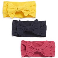 Infant Girl's Baby Bling Bow Stretch Headband (3-Pack) (Online Only)