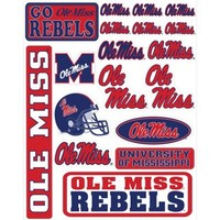 Ole Miss Rebels Decals 18ct