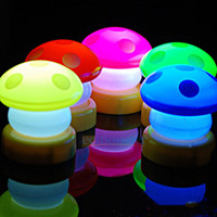*free ship* LED Mushroom Press Down Touch Night Light