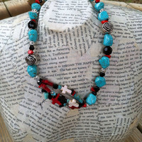 Turquoise Necklace Western Necklace Southwestern by CowtownChic