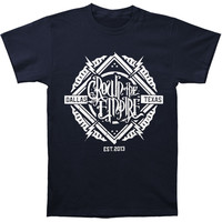 Crown The Empire Men's  Stamp T-shirt Black Rockabilia