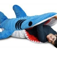 Chumbuddy 3 Shark Adult Size Sleeping Bag and Designer Plush Figure by Patch Together