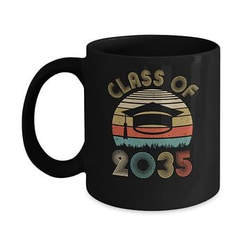 Class Of 2035 Grow With Me Graduation First Day Of School Mug