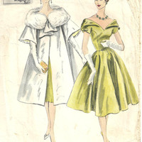 Vogue 190 Evening Gown Dress sz 10 Couturier  Design 1958 Vintage Pattern Un-used RARE