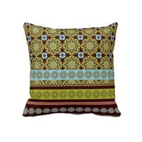 Funky Boho Style Throw Pillow from Zazzle.com