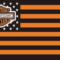 Harley Davidson Stars & Stripes Flag