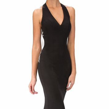 Beaded Jersey Gown by Elizabeth K