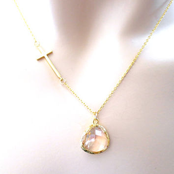 Cross, necklace, gold, cross, necklace, modern, necklace, glass, jewelry, simple, necklace, cute, necklace, modern, jewelry, gift