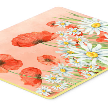 Poppies and Chamomiles Kitchen or Bath Mat 20x30 BB7448CMT